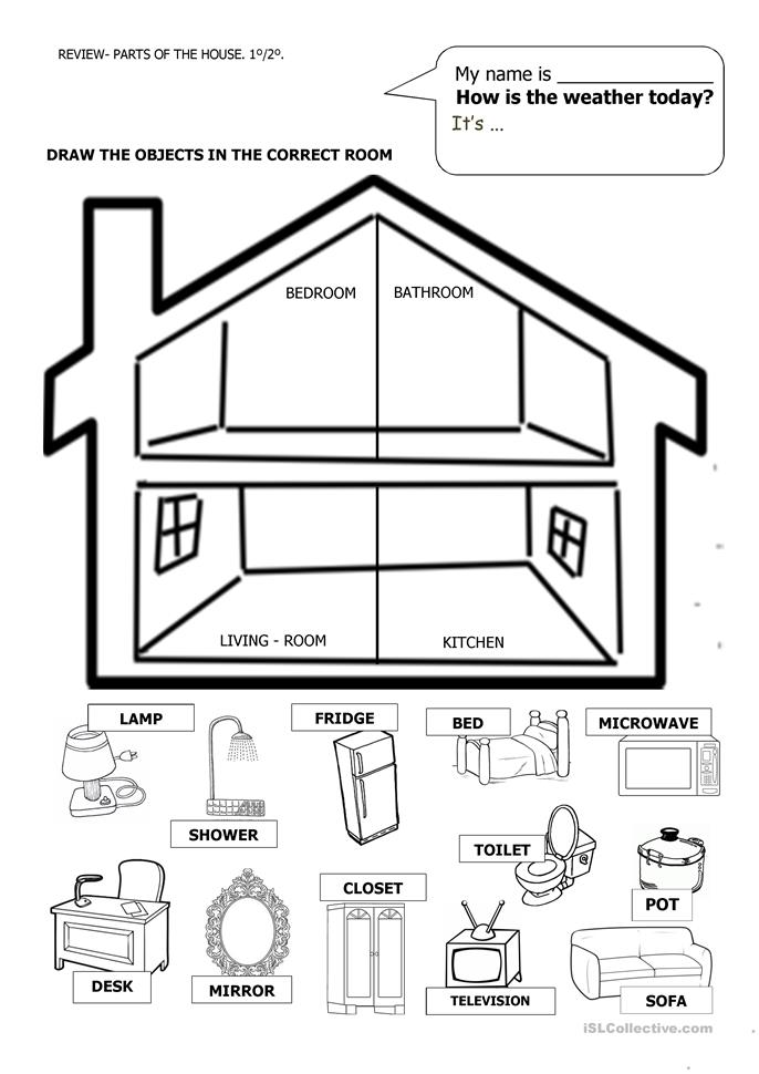 parts of the house lesson plan for preschool - 28 images - parts of ...