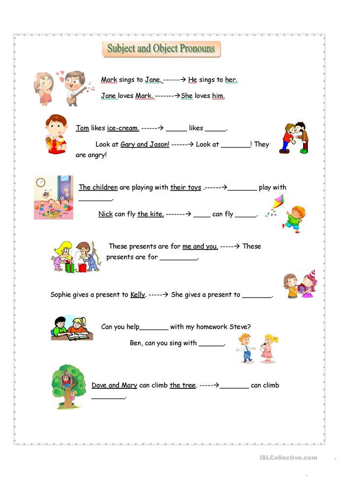 28 objective pronouns worksheets elementary subject and object pronouns 11 best images of. Black Bedroom Furniture Sets. Home Design Ideas