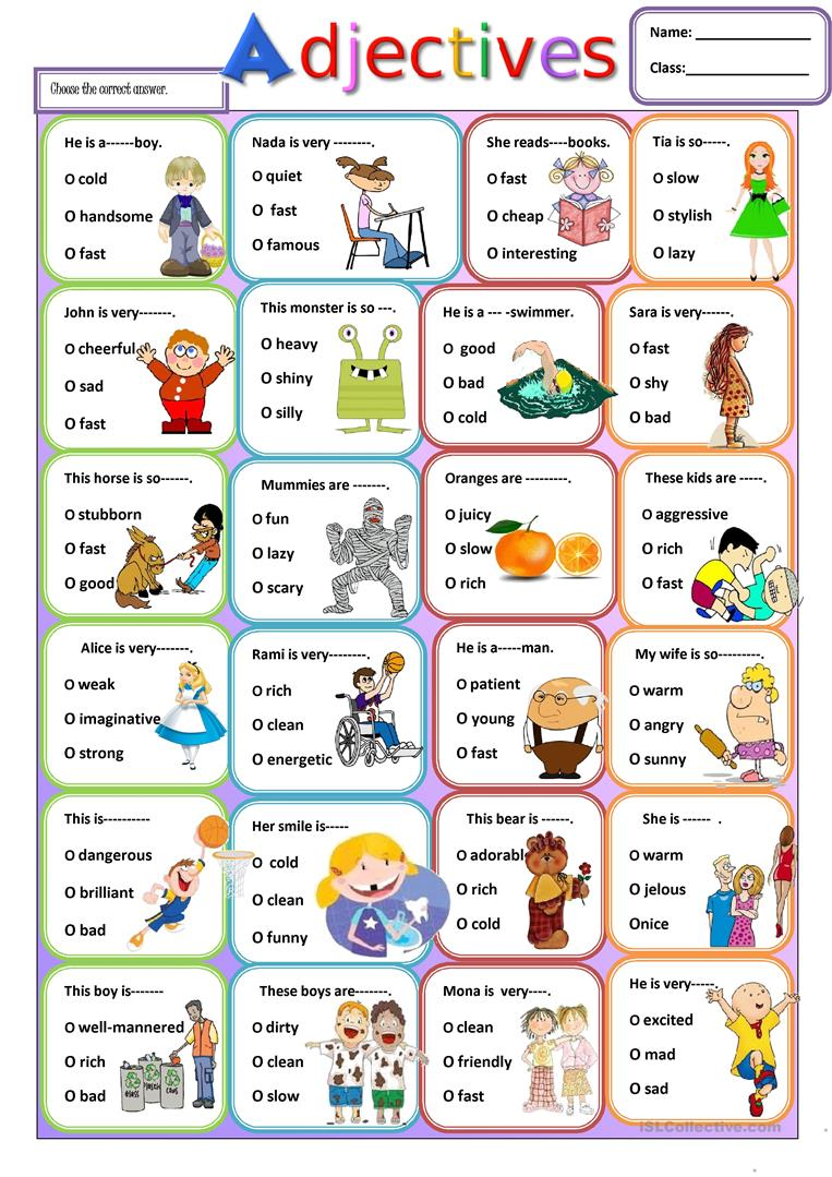 This is a graphic of Fabulous Adjectives Printable Worksheets