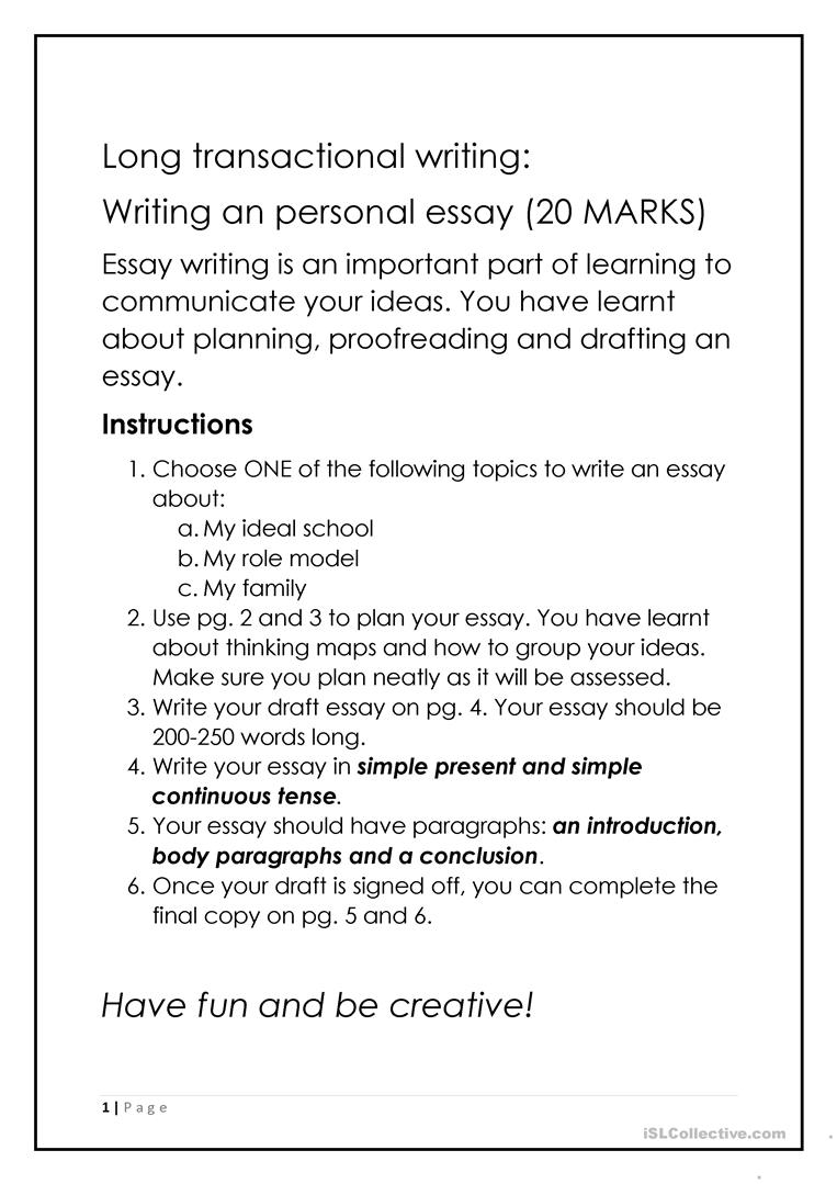 8 FREE ESL guided writing worksheets