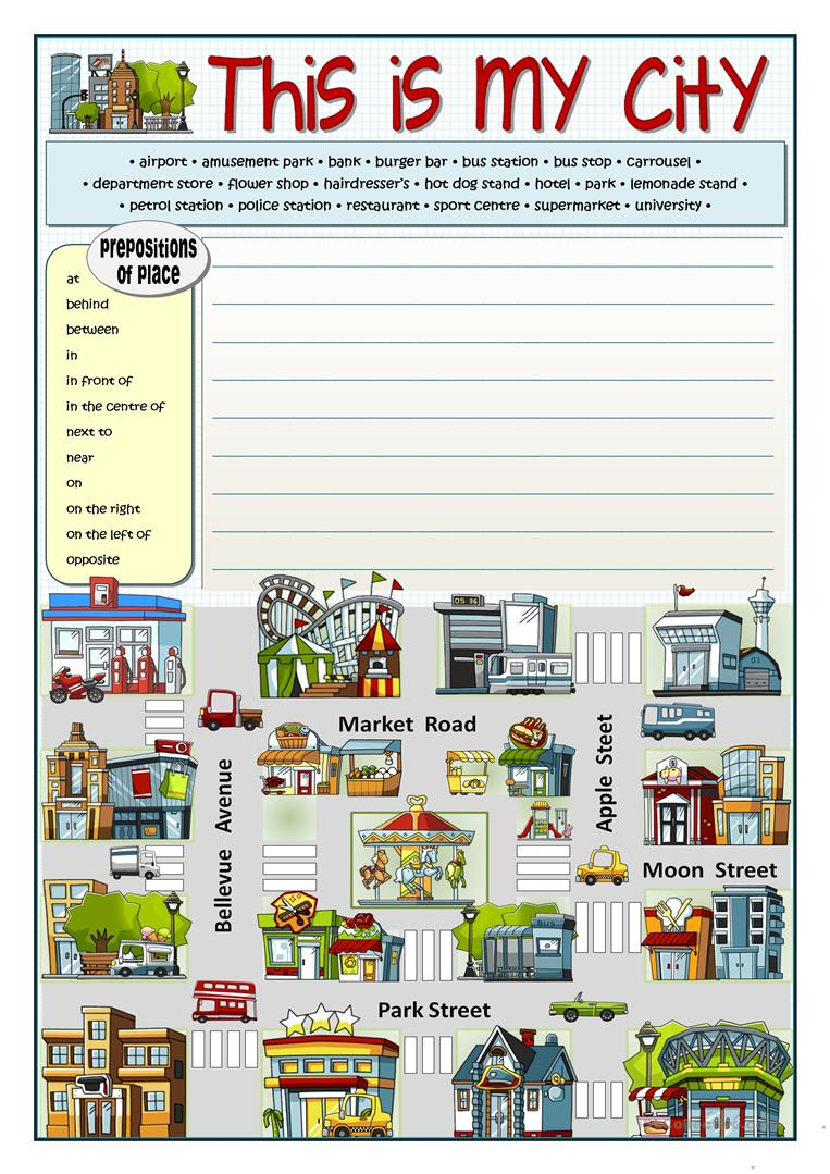 this is my city worksheet free esl printable worksheets made by teachers. Black Bedroom Furniture Sets. Home Design Ideas