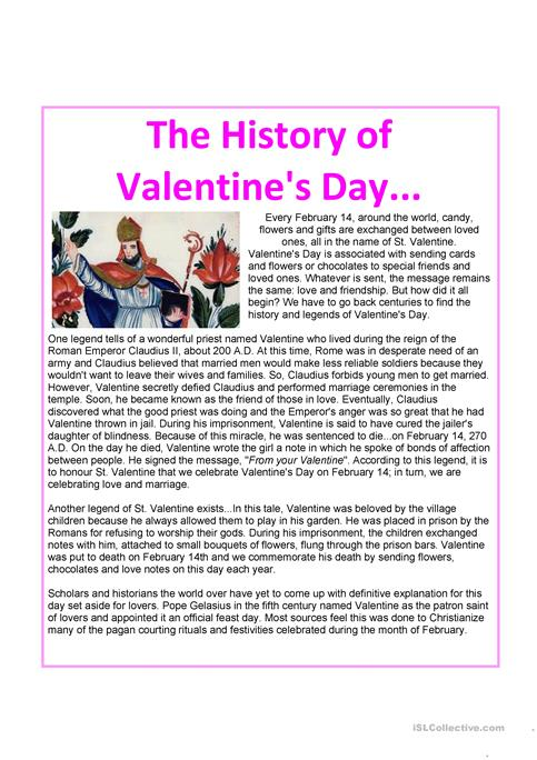 History About Valentines Day