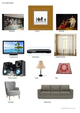 Living room furniture vocabulary vocabulary living room for Interior design vocabulary