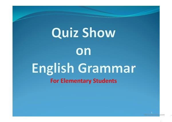 A Quiz Show for Elementary Students