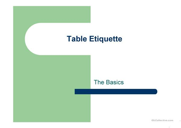 British Table Etiquette