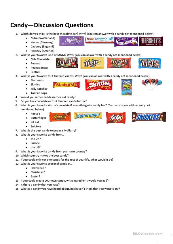 Candy Discussion Questions