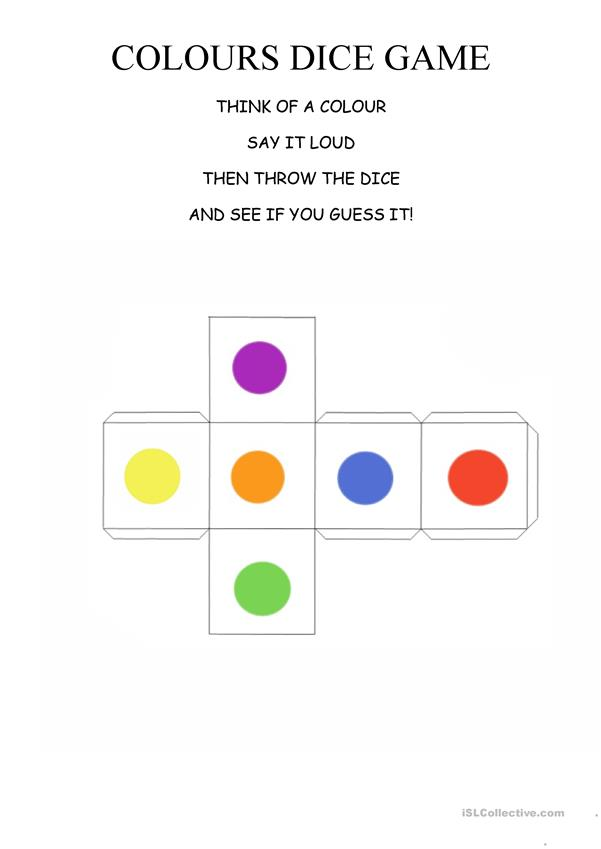 Colours dice game