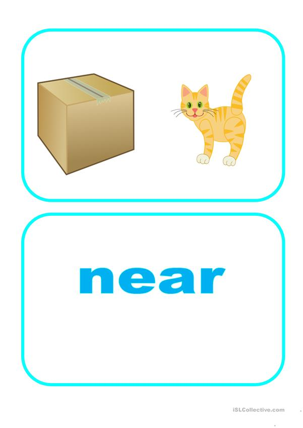 Flashcards - Prepositions and adverbs