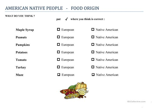 Food ORIGIN - is it from America or not