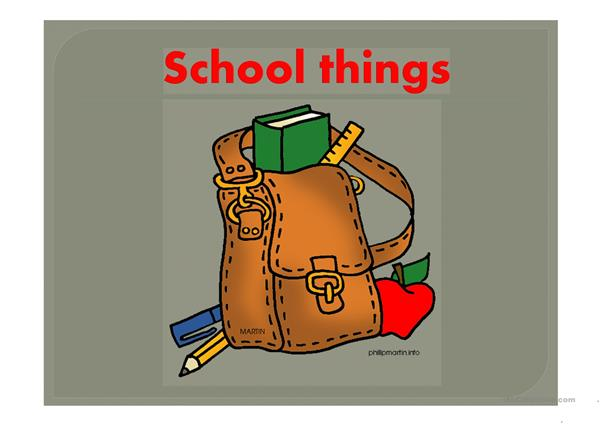 School things,classroom objects