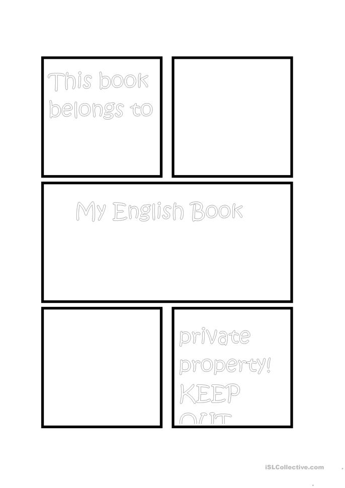 Book Cover Template Docx ~ Design for a book cover esl english worksheet free