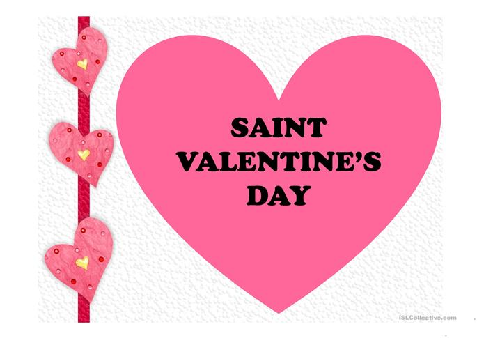 Saint valentine 39 s day 2017 worksheet free esl projectable worksheets made by teachers - Date saint valentin 2017 ...