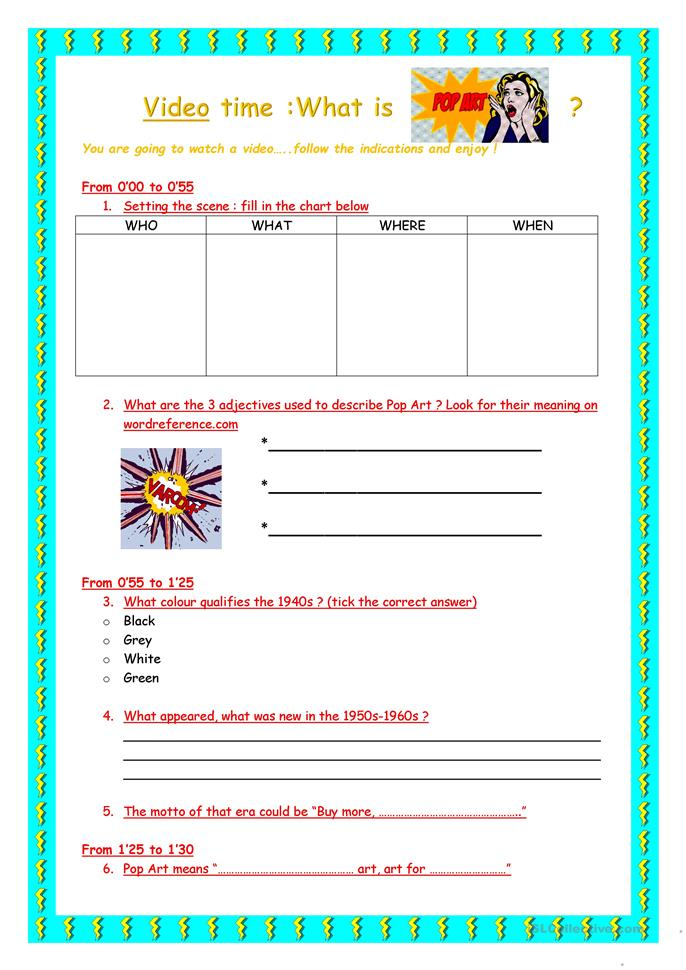 what is work sheet what is pop time worksheet free esl 653