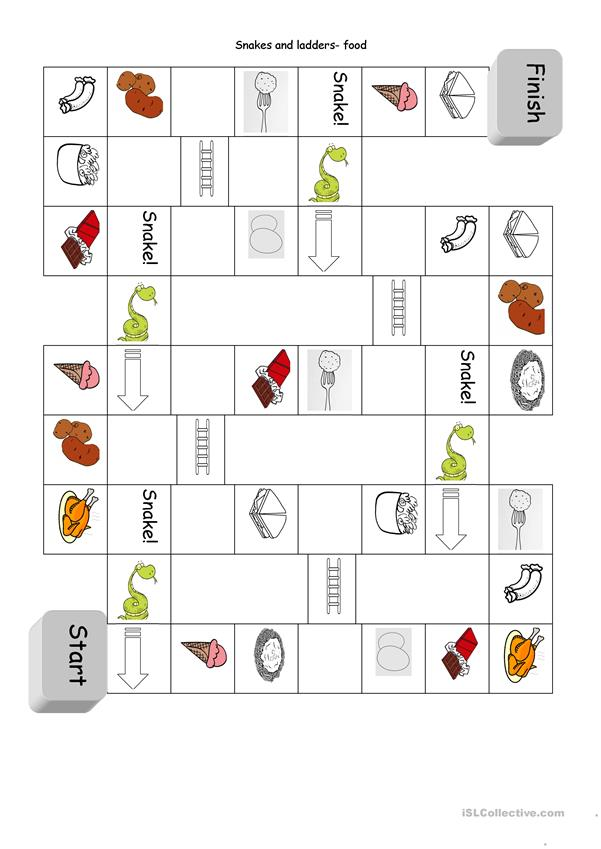 A board game- food