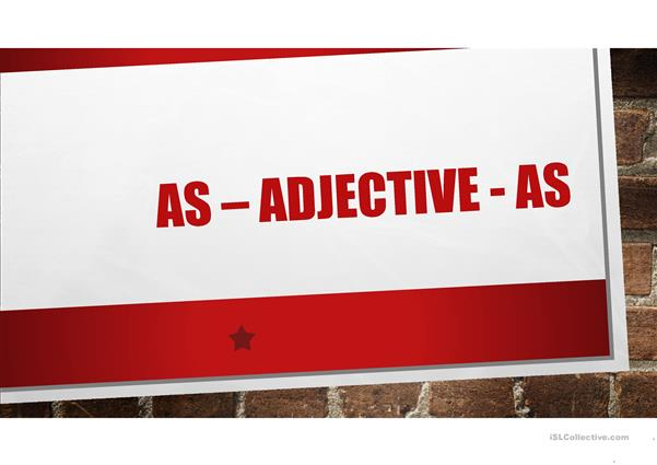 adjectives of equality