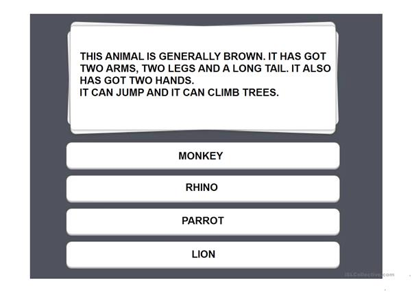 Animals Guessing Game