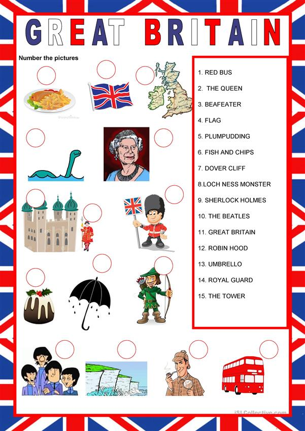 English speaking countries - Great Britain