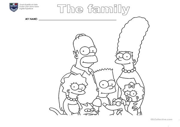 family, simpson cut and paste