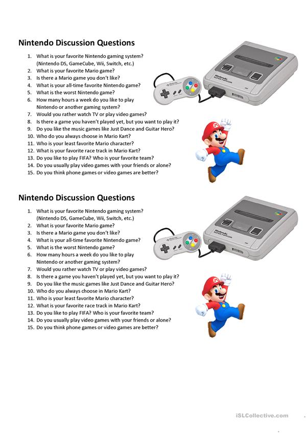 Nintendo Discussion Questions