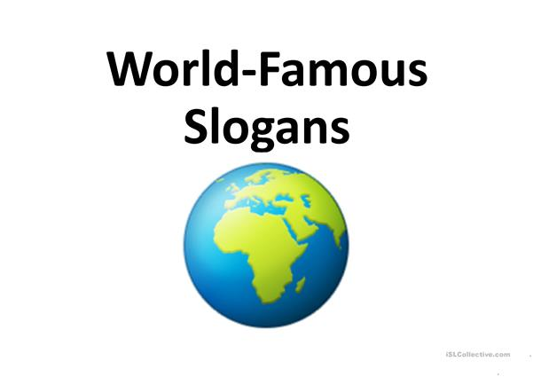 World-Famous Slogans Game