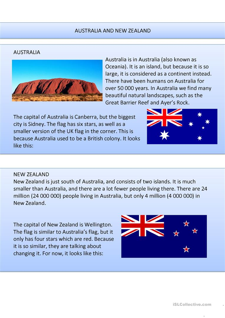 worksheet Worksheets About Australia 23 free esl australia worksheets and new zealand