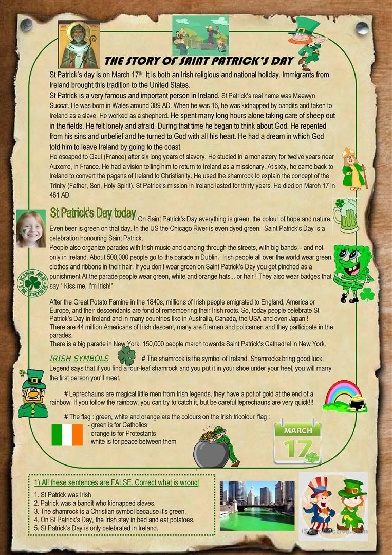 the story of st patricks day St patrick's day teacher resources we found 22 items search all resources enjoy wearing green and searching for the pot of gold while you celebrate st patrick's day on march 17 we have.