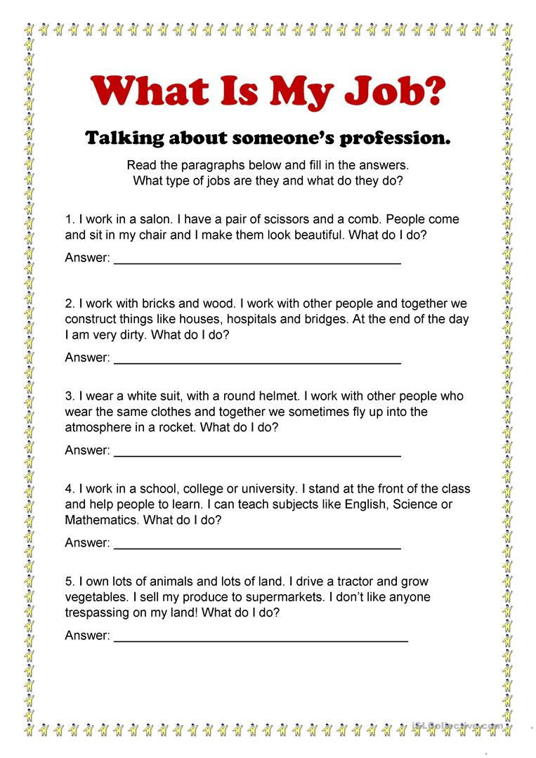 What is My Job? #2 - English ESL Worksheets