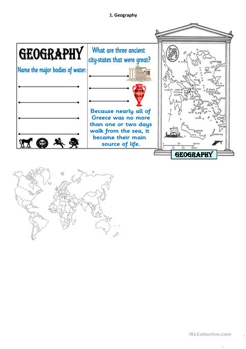 Ancient Greece Map Activity by Middle Marketplace   TpT moreover  further Ancient Greece Worksheets  Facts   Information For Kids likewise Ancient Greece Reading  prehension  Yrs 4 6  by teachingcanbefun as well Ancient greece study guide in addition Clil unit for 1ºESO   Ancient Greec  Lesson plan and worksheets by furthermore Geographic Map Of Ancient Greece Reference Of Geographical Map furthermore Elevation Map Of Geography Ancient Greece – trackurls info likewise geography 6th grade worksheets additionally Lapbook Ancient Greece part 2 worksheet   Free ESL printable moreover Ancient Greece Worksheets  Facts   Information For Kids additionally Ancient Greece  Potion and Culture   PlanBee Single Lesson besides Geography of Ancient Greece Lesson Plans   Worksheets besides Ancient Greece Map Worksheet Amazing Greece – worksheets as well Week 35  A History Map   Ancient Greece  Daily Geography Practice also Greece Geography Notes Activity key. on geography of ancient greece worksheet