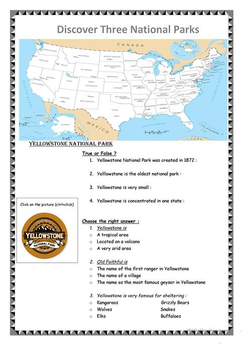 Yellowstone and grand canyon webquest worksheet free esl yellowstone and grand canyon webquest publicscrutiny Image collections