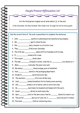 24 FREE ESL 3rd person singular worksheets moreover Verbs Worksheets   Verb Conjugation Worksheets as well Forming Verb Tenses besides  besides  as well Present Simple   Third person Singular Pronunciation worksheet moreover Podcast worksheet simple present simple past   worksheet together with  together with Third Person Singular Simple Present Verbs   Parenting Patch furthermore third person singular worksheets further Englishlinx     Verbs Worksheets as well Learning German Present Tense   Learn German Smarter moreover The Subjunctive Mood Worksheet Third Person Lesson Plans Worksheets furthermore Understanding verb subject agreement also English Learning Made Easy   Simple  PRESENT PERFECT TENSE furthermore Verbs Worksheets   Subject Verb Agreement Worksheets. on 3rd person singular verbs worksheet