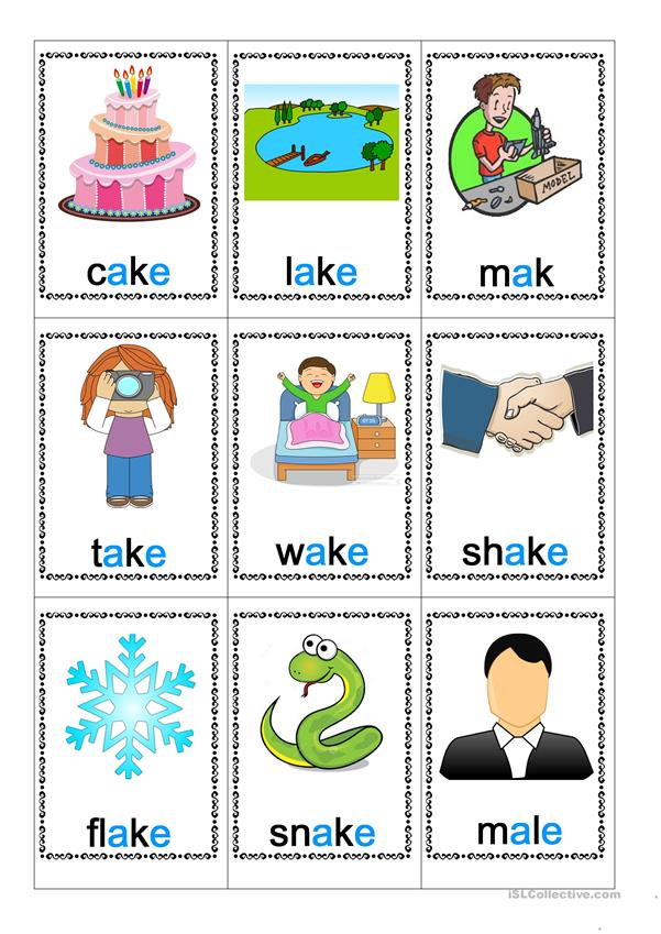a_e words flash cards 3