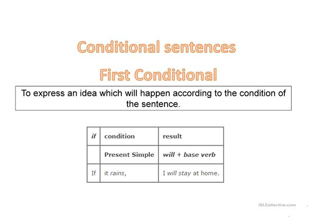 Conditional Sentences (Zero&First Conditionals)