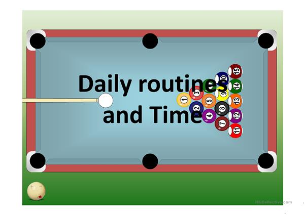 Daily Routines and Simple Time with Pool Game