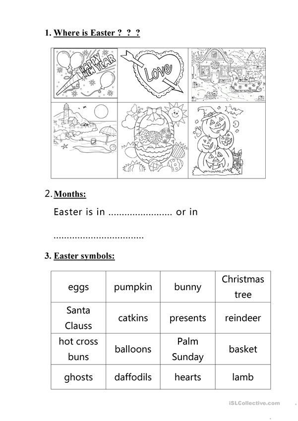 Easter handout