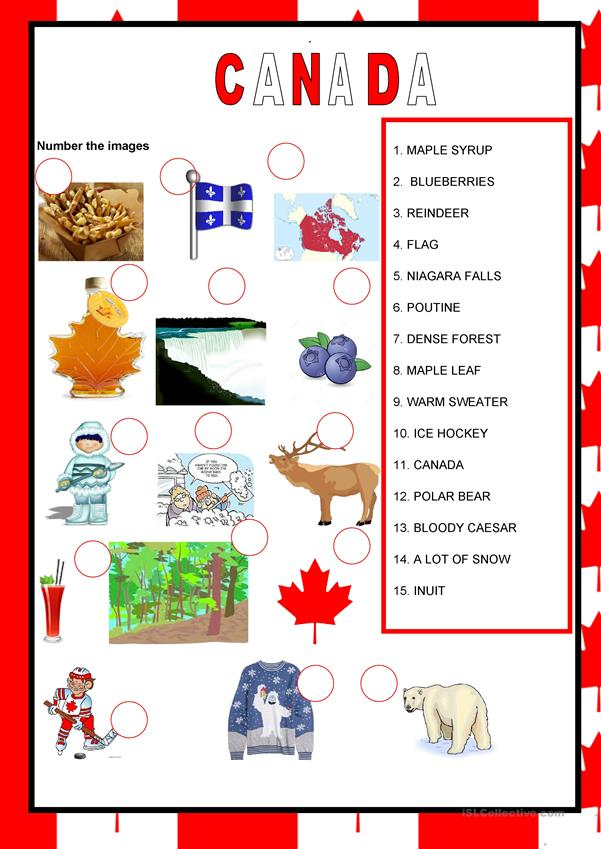 English speaking countries - Canada
