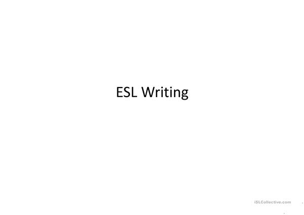 ESL Writing