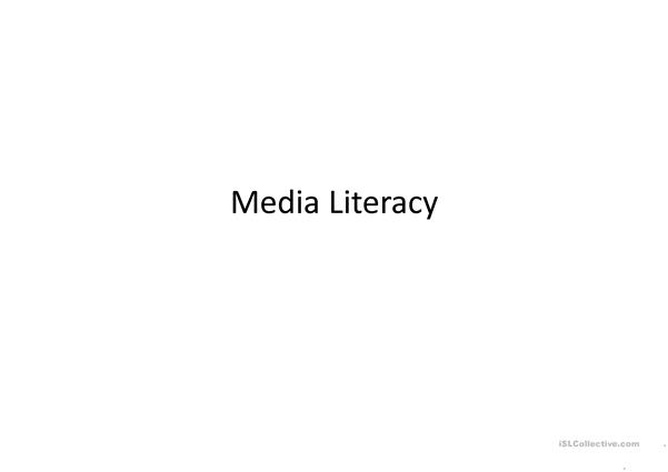 Information and Media Literacy ( Commercial)