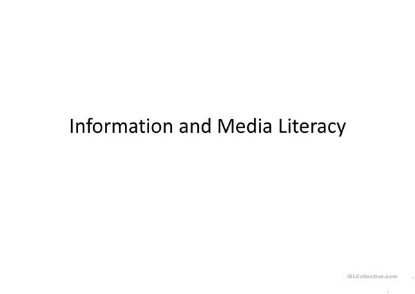Information and Media Literacy