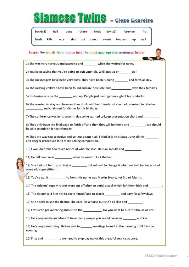Siamese Twins - Word groups and idioms