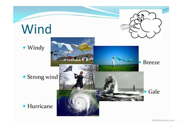 The weather vocabulary and forecast