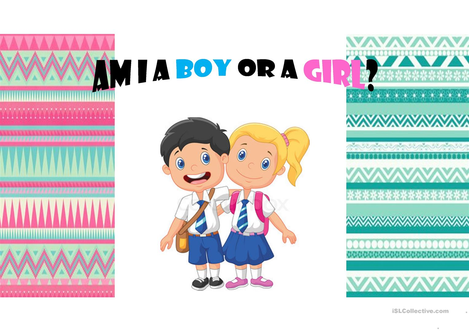 BOY AND GIRL - English ESL Powerpoints