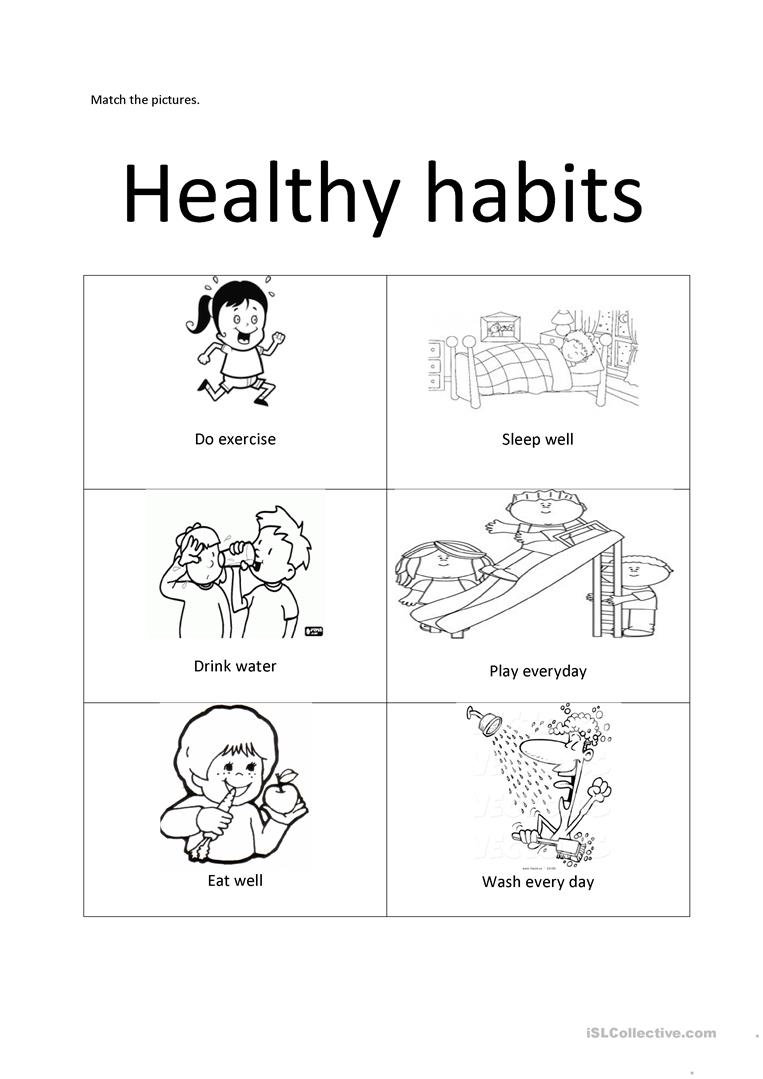 good health habits worksheets the best and most