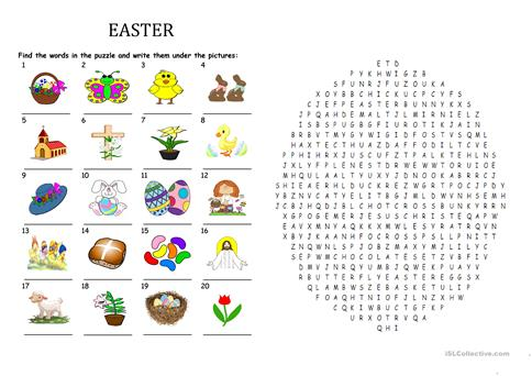 Easter 2017 word search puzzle worksheet free esl printable easter 2017 word search puzzle ibookread ePUb
