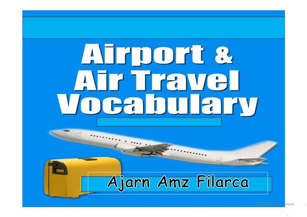 Airport, airline and travel vocabulary