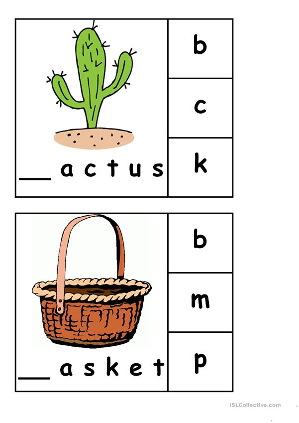 Beginning Consonants Clip Cards 1