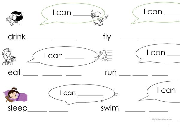 Can + verbs