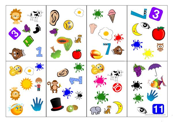 Easy Spot-It cards for kids