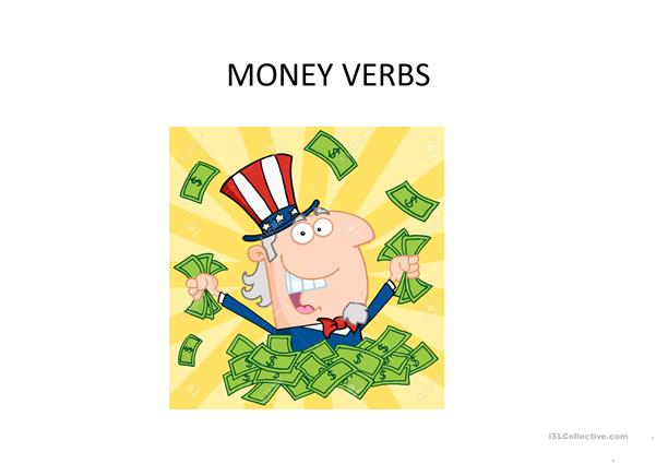 money verbs