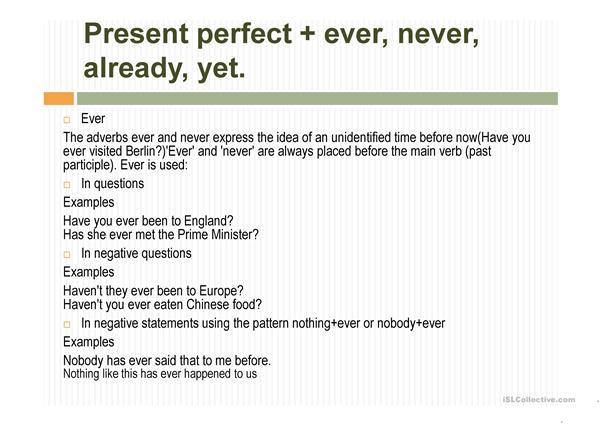 Past and perfect tenses