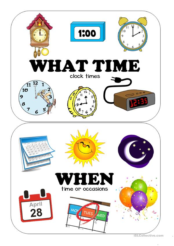 QUESTION WORDS CLASSROOM POSTERS - English ESL Worksheets